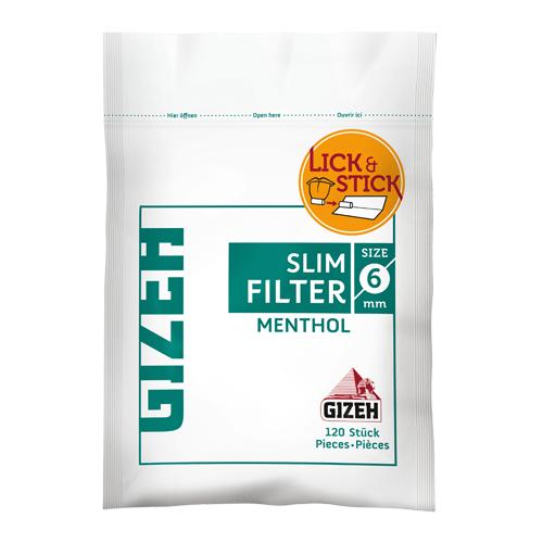 Filtro Gizeh Mentol 6mm c/ 120