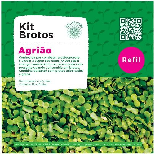Refil para Kit Brotos Agrião Yes We Grow