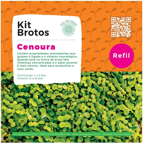 Refil para Kit Brotos Cenoura Yes We Grow